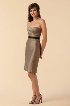 Sweetheart A-line with ruffle embellishment taffeta bridesmaid dress