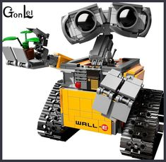 Build a beautifully detailed LEGO® version of WALL-E - the last robot left on Earth! Created by Angus MacLane, an animator and director at Pixar Animation Studios, and selected by LEGO Ideas members, Lego Wall-e, Legos, Buy Lego, Lego Ninjago, Lego Minecraft, Wall E, Model Building Kits, Building Toys, Model Kits