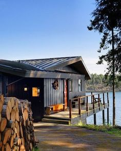 Cabin on a lake. Beautiful....