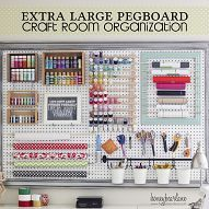 Craft Room Organizational Pegboard                                 This is a great idea!