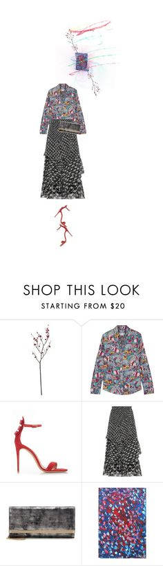 """""""Untitled #1576"""" by maja-z-94 ❤ liked on Polyvore featuring Crate and Barrel, Gabriela Hearst, Salvatore Ferragamo, Peter Pilotto, Jimmy Choo and NOVICA"""