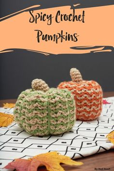 Add these creative ripple-stitch pumpkins to your fall décor and enjoy them on your mantel, on a shelf or enhancing your table setting. They are quick to crochet and you'll love having them all through the fall season.