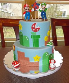 Birthday Cake Photos - Super Mario Cake