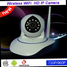 46.00$  Watch here - http://aliv8d.worldwells.pw/go.php?t=32691193621 - 64GB P2P HD Rotating 960P/720P Two Way Audio SD Card Slot Phone calls Alarm Wireless Wifi IP CCTV Security Camera FreeShipping