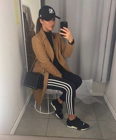 Chill Outfits, Sporty Outfits, Casual Fall Outfits, Winter Fashion Outfits, Mode Outfits, Fall Winter Outfits, Stylish Outfits, Autumn Fashion, Adidas Outfit