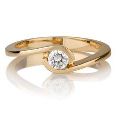 Diamant Ring Solitär 0.25 Karat (VS2/F) in 750er Gelbgold  #diamantring #ring #diamant #gelbgold #diamantschmuck #juwelier #abt #dortmund #verlobung #hochzeit #schmuck #eheringe