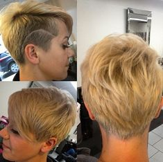 Pretty Shaved Hairstyles for Short Hair