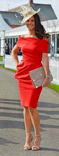 Racegoers at Ladies Day for the Grand National Festival at Aintree racecourse in Liverpool