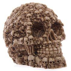 Fantasy Multiple Skulls Ornament Gothic Home by getgiftideas Resin Material, Skull Head, Dark Fantasy, Samhain, Ornaments Design, Skull Makeup, Skull Design, Unusual Gifts, Skulls