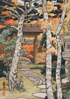 Sangetsu-an Yoshida Tōshi (Japan, Tokyo, 1911-1995) Japan, 1954 Prints; woodcuts Color woodblock print Image: 6 7/16 x 6 11/16 in. (16.36 x 16.99 cm); Sheet: 10 3/4 x 7 15/16 in. (27.31 x 20.17 cm) Gift of Chuck Bowdlear, Ph.D., and John Borozan, M.A. (M.2000.105.113) Japanese Art