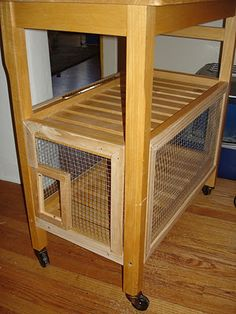 """This was built to keep a fat cat away from the cat food, because it would eat it all. // hack I think a similar idea would work great when one of your cats is on a diet: seperate """"feeding stations"""" with an electromagnetic cat flap."""