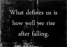 What defines us . . .