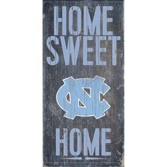 North Carolina Tar Heels Sweet Home Wall Art, Multicolor