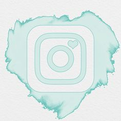 AESTHETIC ICON, WATERCOLOR ICON, INSTAGRAM ICON, INSTAGRAM SEAFOAM ICON