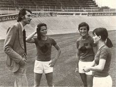 Anne O'Brien: Irish soccer star who carved out a glittering career on mainland Europe This lovely photograph from Vintage Football Club shows O'Brien (2nd left) beside the late Pierre Geoffroy during training with Reims in 1974. Two other players Dejean and Souef look on. Ireland women's football | Women's Football Archive
