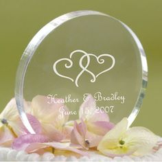 personalized circle cake topper