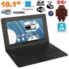 Yonis Mini Pc Android ultra portable netbook 10 pouces WiFi 8 Go Noir Mini Pc, Carte Sd, Pc Android, Usb, Wi Fi, Laptop, Samsung, Electronics