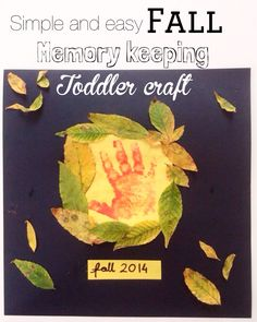 Simple fall craft for toddlers! What an adorable keepsake.