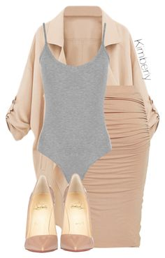 """Untitled #1699"" by whokd ❤ liked on Polyvore featuring moda, WearAll y Christian Louboutin"