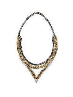 4VR Triple Diamante V Necklace | Piperlime