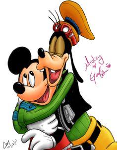 """*GOOFY ~ """"Mickey-Goofy Love"""" by ~clayangel on deviantART"""