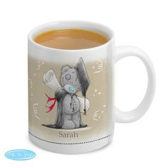 Personalise this 'Me To You' graduation mug with a name on the front up to 12 characters long and a message on the back over 4 lines of 20 characters per line.  Personalisation will appear as entered, please refrain from using all uppercase or special characters.  What's more this fantastic mug is available with next day delivery!   Please refrain from using special characters as this may impair the quality of the personalisation and in some cases cause it to be missed off the product…