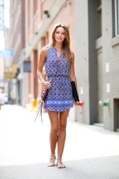 beautiful print summer dress