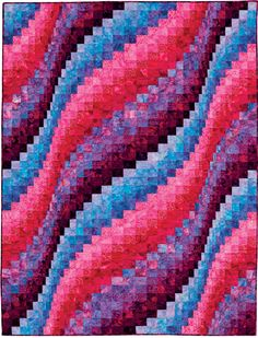 """Misty Morning"" from the book More Twist-and-Turn Bargello Quilts by Eileen Wright"