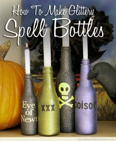 How to Make Glittery Spell Bottles