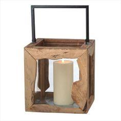 Candle Wood Lantern