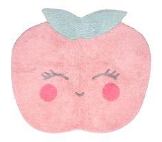 Waschbarer Kinderteppich \'Candy Apple\' rosa 110x100cm