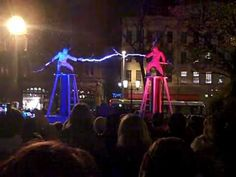 Video: Electricity fight using Tesla coils. This would have been more exciting if one of them had been zapped off the podium, but still worth a look. The two performers at an Irish festival staged the fight using Tesla coils and special suits.