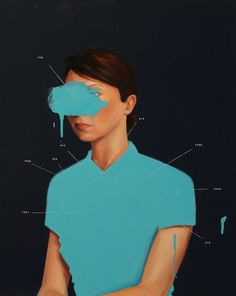 """Replacing Adrianna in Three Parts"" - Oliver Jeffers - Paintings"