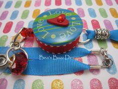 Bealoved  Retractable Badge Reel  Id Holder  Rn by BeasBuzzDesigns, $20.00