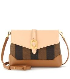 MINI SHOULDER BAG WITH LEATHER by Fendi