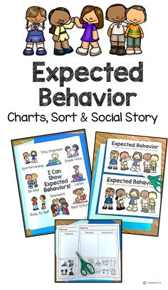 Listening, body to self, best effort, organized, kind, inside voice, teamwork, and a good sport are the expected behaviors explicitly taught with this resource. The posters, sort, and social story are just what you need to share this learning with your students' families!