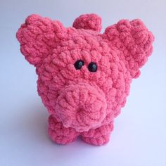 Crochet Animal Stuffed Pig Crochet Pig by TheSimplyHooked on Etsy