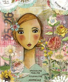 Joyful-Girl-prints-Kelly-Rae-Roberts-Ready-to-Frame-matted-signed