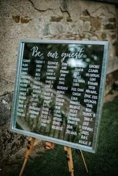 Be Our Guest Wedding Table Plans