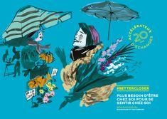 Eurostar Anniversary Campaign by Eili-Kaija Kuusniemi — Agent Pekka Outline Artists, Old Maps, 20th Anniversary, Illustrators, Fine Art, Campaign, Zulu, Anime, Celebration
