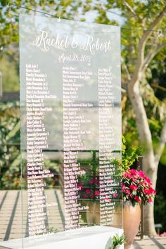 Seating Chart Sign I
