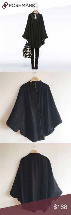 DVF Wool Front Zip Cape Worn once; lined on the inside; no trades Diane von Furstenberg Jackets & Coats Capes