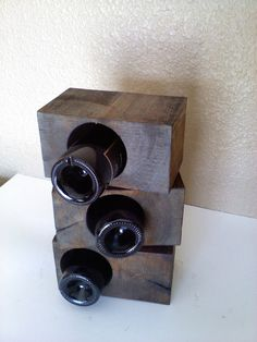 Reclaimed Timber Block wine Racks by AspenBottleHolders on Etsy, $49.00