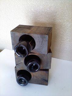 Reclaimed Timber Block wine Racks by AspenBottleHolders on Etsy, $49.00