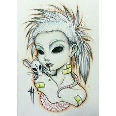Yolandi Visser with rat tattoo.