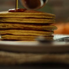 Use up some of that fresh pumpkin puree and try a healthy fall breakfast treat. Breakfast And Brunch, Breakfast For Kids, Breakfast Recipes, Pumpkin Protein Pancakes, Pumpkin Puree, Pumpkin Recipes, Fall Recipes, Pureed Food Recipes, Cooking Recipes