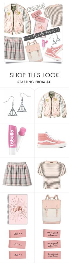 """school daze"" by collagette ❤ liked on Polyvore featuring Hollister Co., Vans, Topshop, Parasol, BackToSchool, jcrew and hollister"
