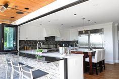 Green with Envy #kitchen #foldingdoors