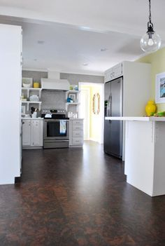 cork floors...from Young House Love.  Sounds like an intriguing flooring material-may have to look into it.