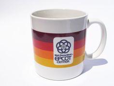 Epcot Center Coffee Mug 1980s Walt Disney World 80s by pezzazz